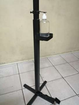 Hands free foot operated sanitizer stands