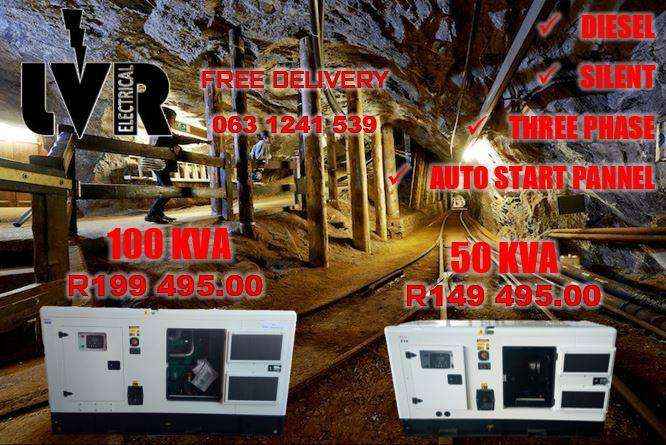50 KVA AND 100KVA SILENT DIESEL GENERATORS AUTO START 0