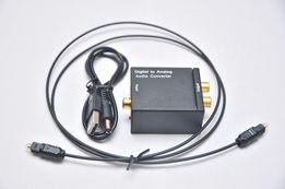 Конвертер с оптики на тюльпаны RCA Toslink Digital to Analog для ТВ