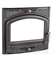 Дверцы для камина печи барбекю 500х450мм. Печная дверца со стеклом