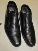 мужские кожаные классические ботинки зимние