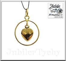 Złote serduszko w kółeczku złoty wisiorek serce w kole Jubiler Tychy