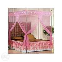 New Mosquito Net with Metallic Stand - 5X6, 6X6, 4X6 - Pink and White 0
