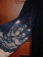 Sukienka koronkowa granatowa