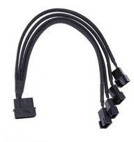 Переходник питания MOLEX/SATA ->4 шт 26см 4 pin hub кулер fan молекс