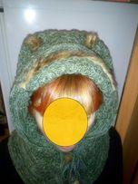 Оригинальная шапка - шарф ручной работы