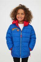 Куртка 116 128 134 140 рр 4-10 лет HM Superman утепленная