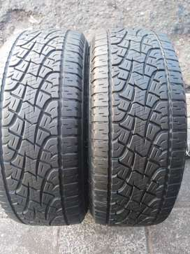 255/55/19. Two pireli scorpion tyres available for sale