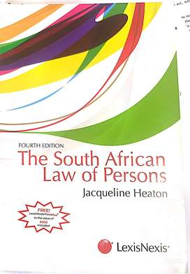 UNISA TEXT Books - Law of persons  & Casebook law of persons