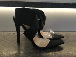 Sandałki szpilka czarne