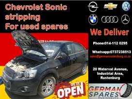 chev sonic used spare parts for sale