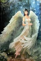 """Картина из пазлов """"Ангел в лесу""""."""