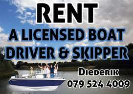 Rent a Skipper or boat driver