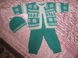 Комплект,костюмчик вязаный для малышей и малышек.Ручная работа.