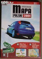 Mapa drogowa Polski 2004r na płycie.