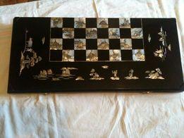 Антикварные нарды-шахматы-шашки
