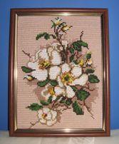 obraz haft krzyżykowy - kwiaty