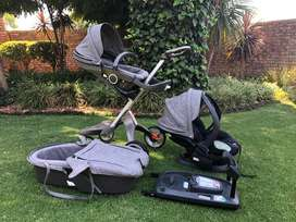 Stokke xplory, basinet and car seat with isofix