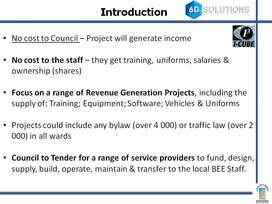 Fund, design, supply, build, operate, maintain & transfer