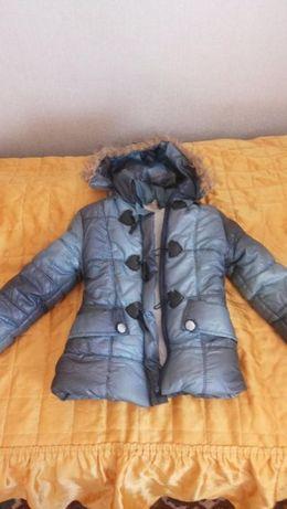 Зимняя куртка,пуховик девочке 2-4 года