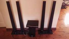 LG home theatre system tall boys