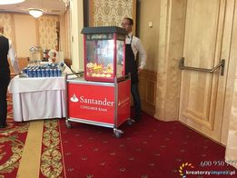 Mobilna gastronomia Wata cukrowa Popcorn