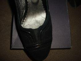 Туфли замшевые черные разм.38