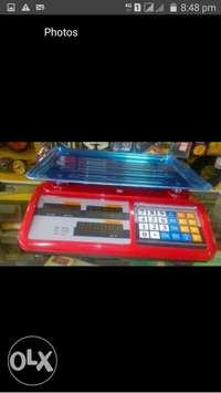 Red display weighing scales 0