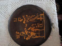 Тарелка с Египта, гравировка по меди ,прошлый век. д-р 250 мм 100 гр.