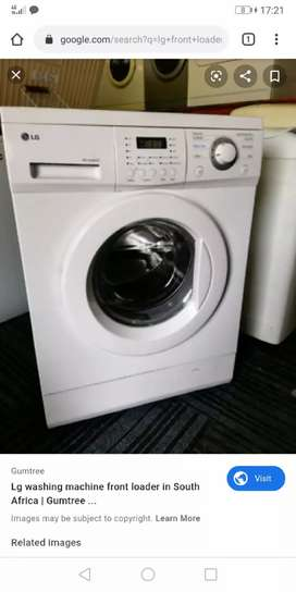 Washing machine swop for flat screen tv