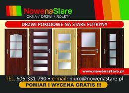 Drzwi pokojowe na stare futryny, bez wyrywania, niska cena, na wymiar