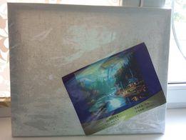 Полотно для самостоят рисования акварелью, 24 цвета краски, 3 кисточки