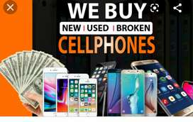 We buy used and broken phones For parts