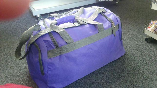 Torba podróżna duża dwa kolory fiolet granat nowa bagaż na podróż Hit Sierakowice - image 5