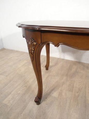 Rzeźbiona stylowa ława, stolik kawowy Ludwik Filip w idealnym stanie ! Łódź - image 4
