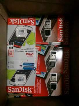 SanDisk USB's AND Memory CARDS 16GB for sale R150 each