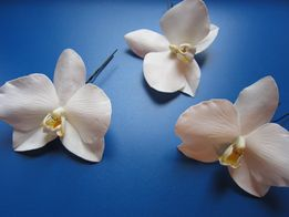 Ручная работа. Орхидея. Заколка для прически. Шпилька. Цветы в волосы