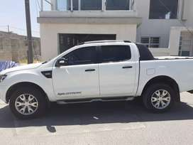 2014 Ford Ranger Wild tracker 3.2d.White in colour with roller door