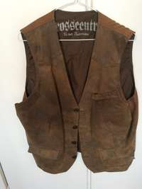 Mens Imported Suede Waist Coat Size XL, used for sale  South Africa