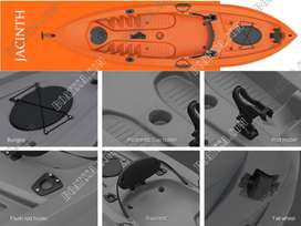 SEAFLO FISHING KAYAK WITH ROD HOLDER ORANGE >125KG