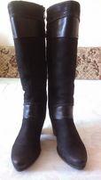 женские зимние кожаные сапоги marco tozzi 38 размер