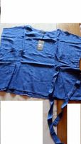Bluzka bawełniana, kolor blue sapphire, rozm. 52 (XXXXL) z paskiem