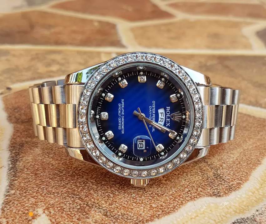 Silver Rolex with stones oyster 0