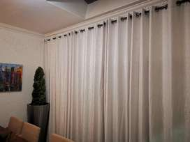Velvet Textured, Block out Eyelet Curtains