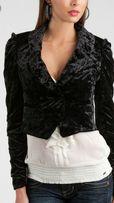 Черный пиджак Guess бархат. Размер L. Оригинал.
