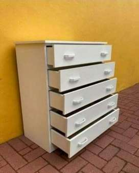 White Melamine Chest of Drawers for Sale