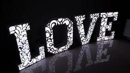 Ażurowe Love litery Producent