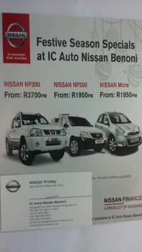 Image of Nissan NP200. pay R1950 pm for your brand new nissan np 200 T&C apply#