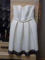 biała sukienka z pianki 36