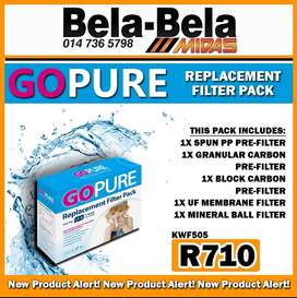 Go Pure Replacement Filter Pack ONLY R710 at Midas Bela Bela!